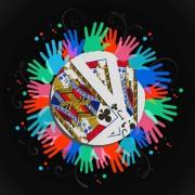 Hands around jack of clubs